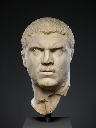 Unknown Roman, 'Marble portrait of the emperor Caracalla', 212–217