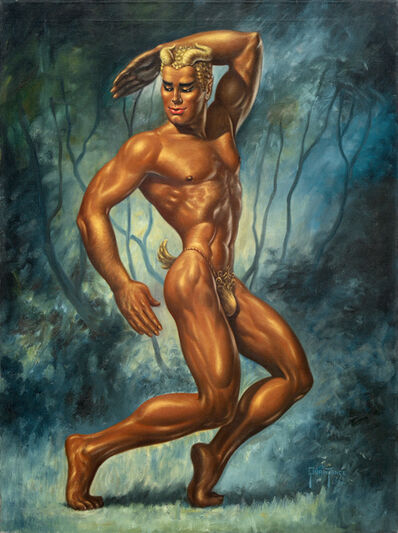 George Quaintance, 'Golden Faun', 1952