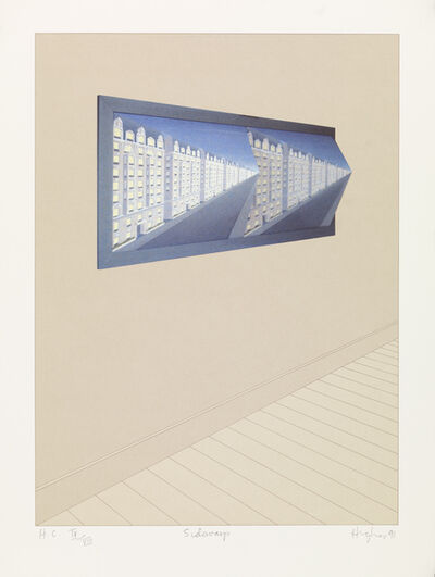 Patrick Hughes, 'Sideways', 1991