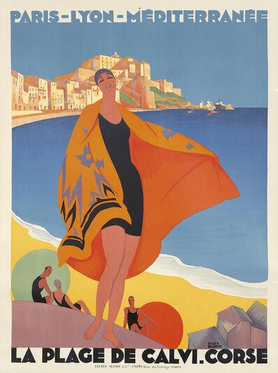 Roger Broders, 'La Plage de Calvi, Corse.', 1928
