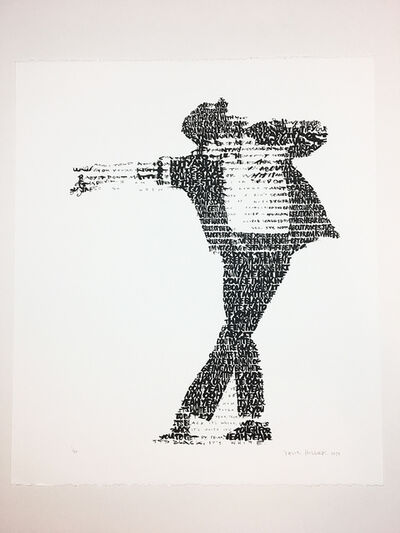 David Hollier, 'Michael Jackson (text: 'Black or White' lyrics)', 2019