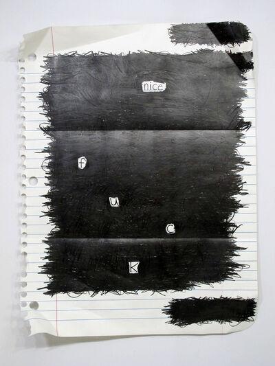 Michael Scoggins, 'Nice F.U.C.K', 2015