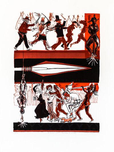 Warrington Colescott, 'A Wild West: Cowboys and Indians', 1969