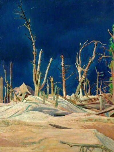 William Rothenstein, 'Blasted Trees', 1918