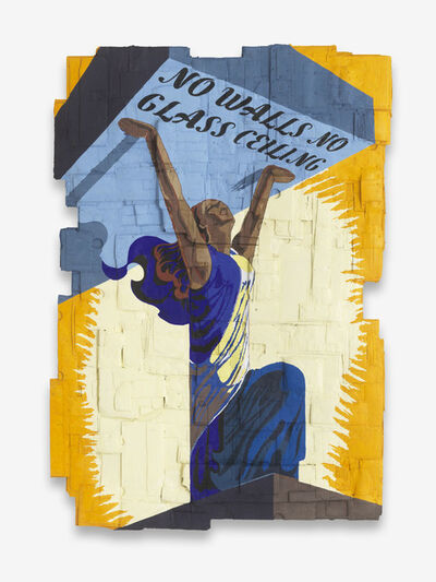 Andrea Bowers, 'No Walls No Glass Ceiling (Originally a Celebratory Poster for the Liberation of France during World War II, illustrated by Philippe Grach, 1944)', 2018