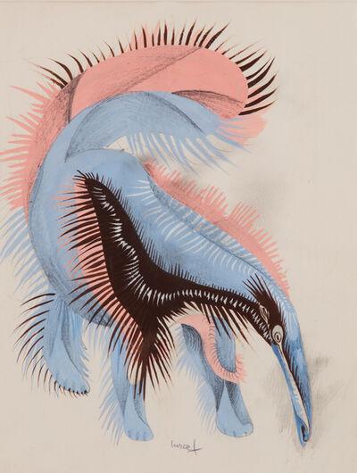 """Jean Lurçat, '""""Fourmilier des Capucines,"""" Original drawing for the book """"Géographie animale,"""" André Gonin, Lausanne, 1948', 1948"""