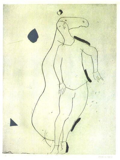 Marino Marini, 'La Sorpresa I, from Personaggi, Plate III', 1973