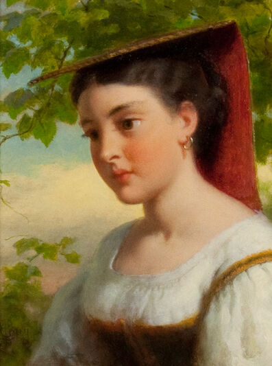 Seymour Joseph Guy, 'Young Woman in Traditional Italian Dress'