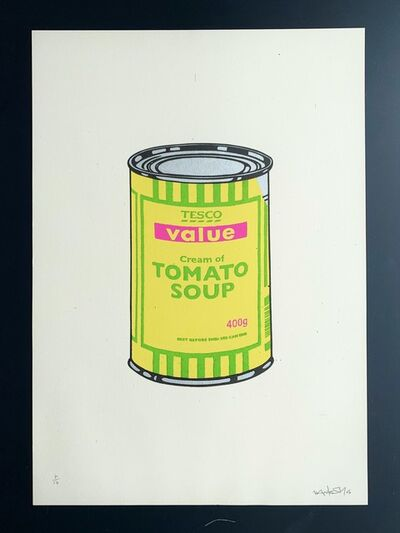 Banksy, 'Soup Can, Yellow / lime / Hot Pink', 2005