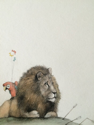 Adonna Khare, 'Lion with Arrows '