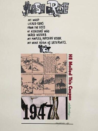 Richard Merkin, 'Lash LaRue Pop Art 1969 Color Screenprint Richard Merkin', 1960-1969