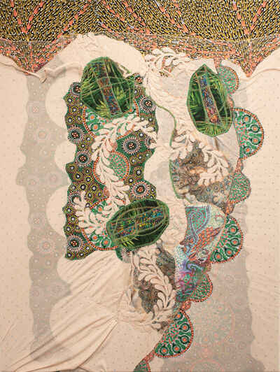 Jennifer Blalack, 'Compassion - Bold Mixed Media, International Fabric and Textile Collage', 2021