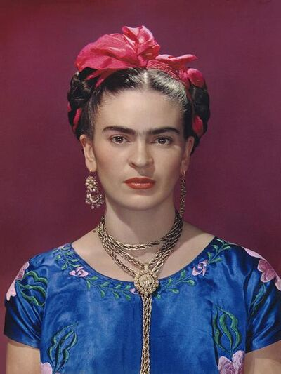 Nickolas Muray, 'Frida in Blue Silk Dress', 1939