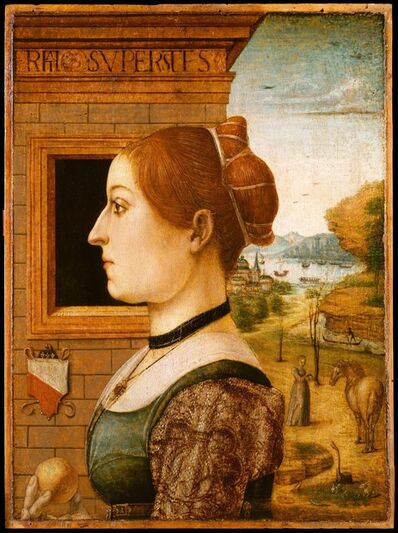 Attributed to the Maestro delle Storie del Pane, 'Portrait of a Woman, possibly Ginevra d'Antonio Lupari Gozzadini', ca. 1494