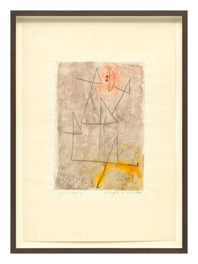 Paul Klee, 'Kämpft mit sich selber (Struggles with himself)', 1939