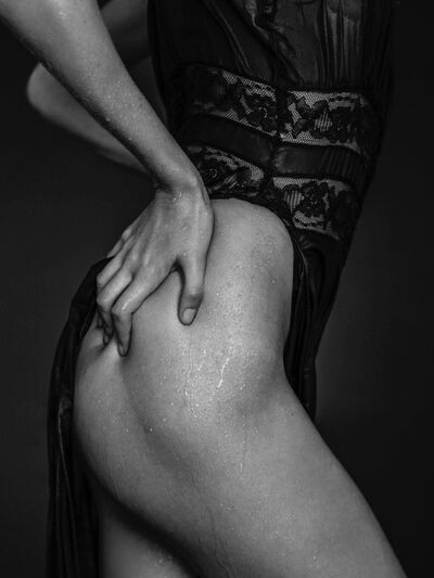 Russell James, 'Behati Wet Black Dress & Hand', 2013