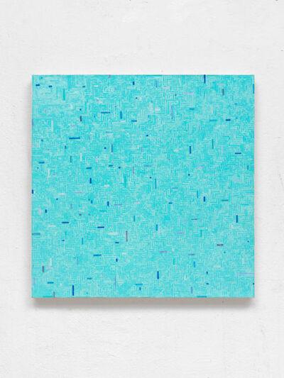 """Gregor Hildebrandt, '""""mäandern ins Blaue""""', 2016"""