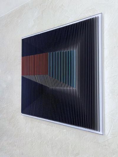 J. Margulis, 'J. Margulis - Displaced Illusion IX - kinetic wall sculpture ', 2020