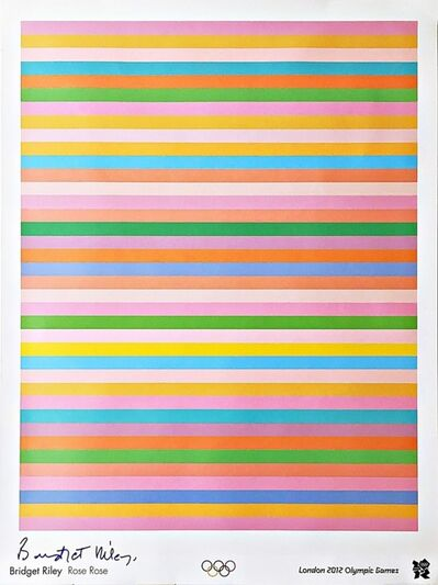 Bridget Riley, 'Rose Rose Limited Edition Offset Lithograph Poster for 2012 Olympics with Hologram (Hand Signed)', 2011