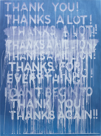 Mel Bochner, 'Thank You!', 2014
