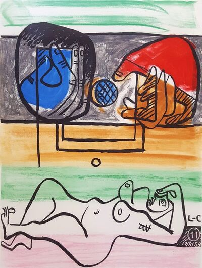 Le Corbusier, 'Unité, Planche 11 (Set of 2)', 1965