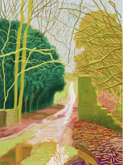 David Hockney, 'The Arrival of Spring in Woldgate, East Yorkshire in 2011 - 29 January', 2011
