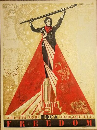 Shepard Fairey (OBEY), 'Artists for Freedom ', 2015