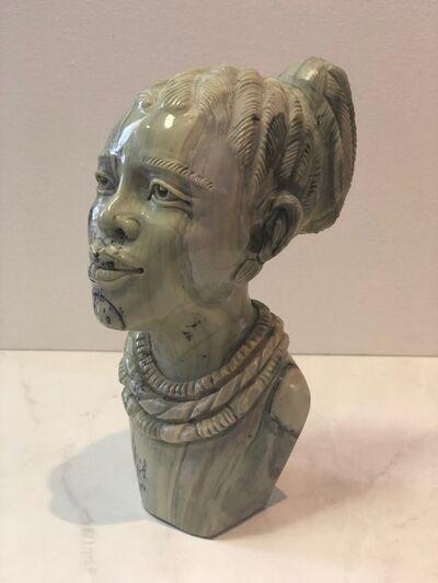 Aron Kapembeza, 'African Woman Stone Sculpture', 2019