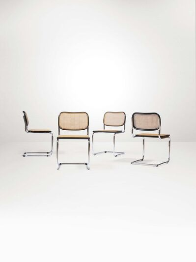 Marcel Breuer, 'Four Ceska chairs with a chromed metal and wood structure', 1960 ca.