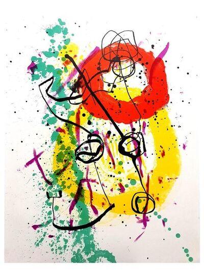 Joan Miró, 'Joan Miro - Moon Bird, Sun Bird - Original Lithograph', 1961
