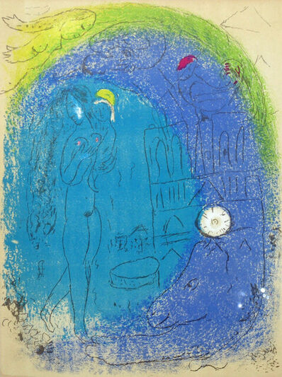 Marc Chagall, 'Mother and Child before Notre Dame', 1952