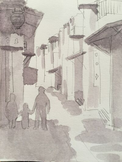 Katrin Sigurdardóttir, 'A Street in Chinatown, San Francisco –  undated postcard, catalog number 1988.003.008', 2020