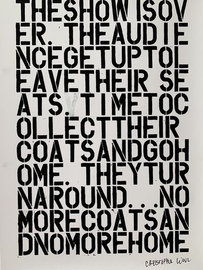 Christopher Wool, 'CHRISTOPHER WOOL & FELIX GONZALEZ-TORRES, UNTITLED LITHOGRAPHIC PRINT', 1992