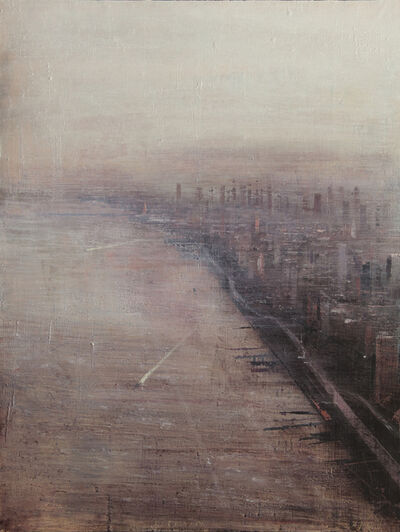 ALEJANDRO QUINCOCES, 'N. Y.  Violeta y gris ', 2018