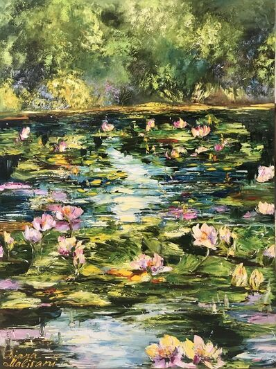 Diana Malivani, 'Pond with water lilies ', 2018