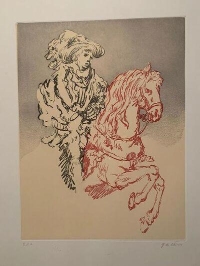 Giorgio de Chirico, 'Paggio a cavallo', 1972