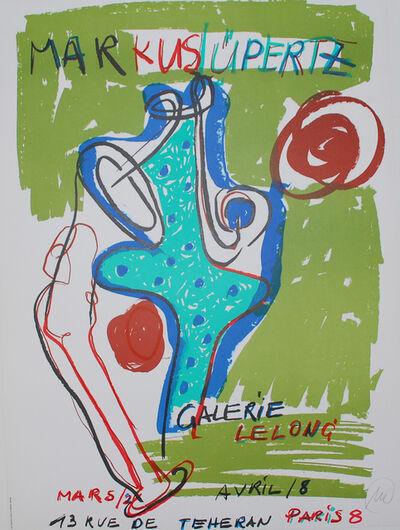 Markus Lüpertz, '(hand signed exhibition poster)', 1986