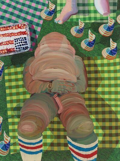 Celeste Rapone, 'Burnt Ham with Flag Cake', 2014