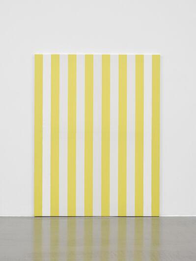 Daniel Buren, 'Peinture acrylique sur tissu rayé blanc et jaune d'or', 1989