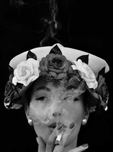 William Klein, 'Hat + Five Roses, Paris (Vogue)', 1956