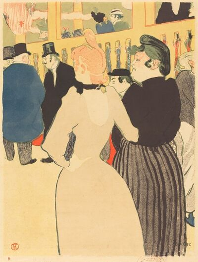 Henri de Toulouse-Lautrec, 'At the Moulin Rouge, la Goulue and Her Sister (Au Moulin Rouge, la Goulue et sa soeur))', 1892