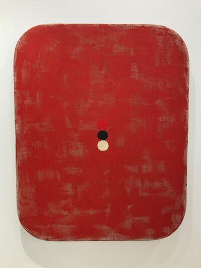 Otis Jones, 'Red with Red, Black, White Circles', 2018
