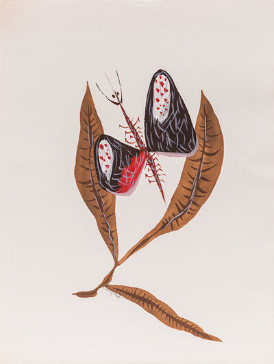 Jean Lurçat, 'Feuilles et papillon', 1950s