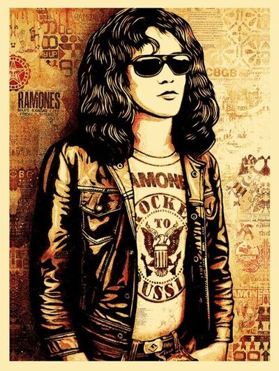 Shepard Fairey (OBEY), 'Tommy Ramone Red', 2016