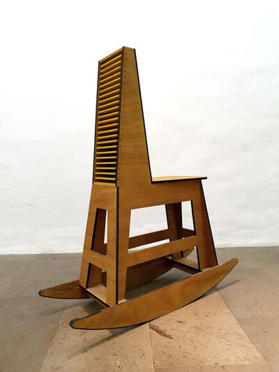 Julio Blancas, 'Rocking stool chestbox', 2019