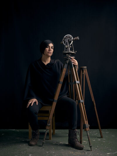 Heba Y. Amin, 'Portrait of Woman with Theodolite II', 2019