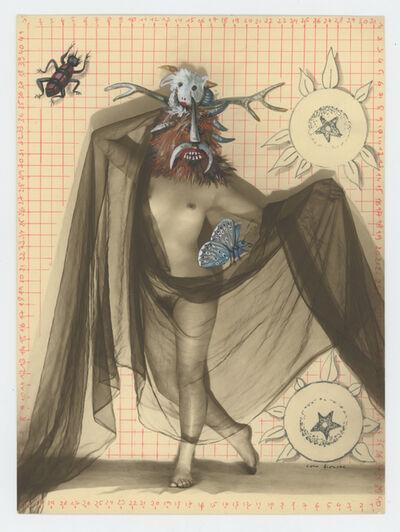 Coco Fronsac, 'Jeux de voiles sur papier quadrille, de la serie chimeres et merveilles', 2015