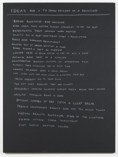 Scott Reeder, 'Ideas for a TV show episode or a painting', 2017