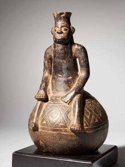 Unknown Artist, 'Anthromorphic Vessel in Blackened Terracotta, Mangbetu People', First half 20th C