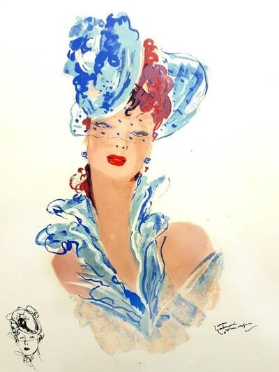 "Jean Gabriel Domergue, 'Lithograph ""Elegance"" after Jean-Gabriel Domergue', 1956"